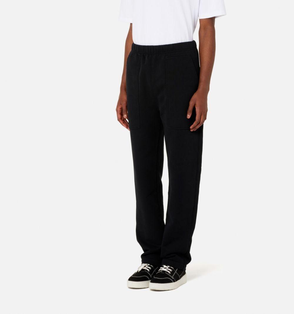 Ami trackpants Black in Cotton Man AMI - ALEXANDRE MATTIUSSI | Trousers | A21HJ308.747001