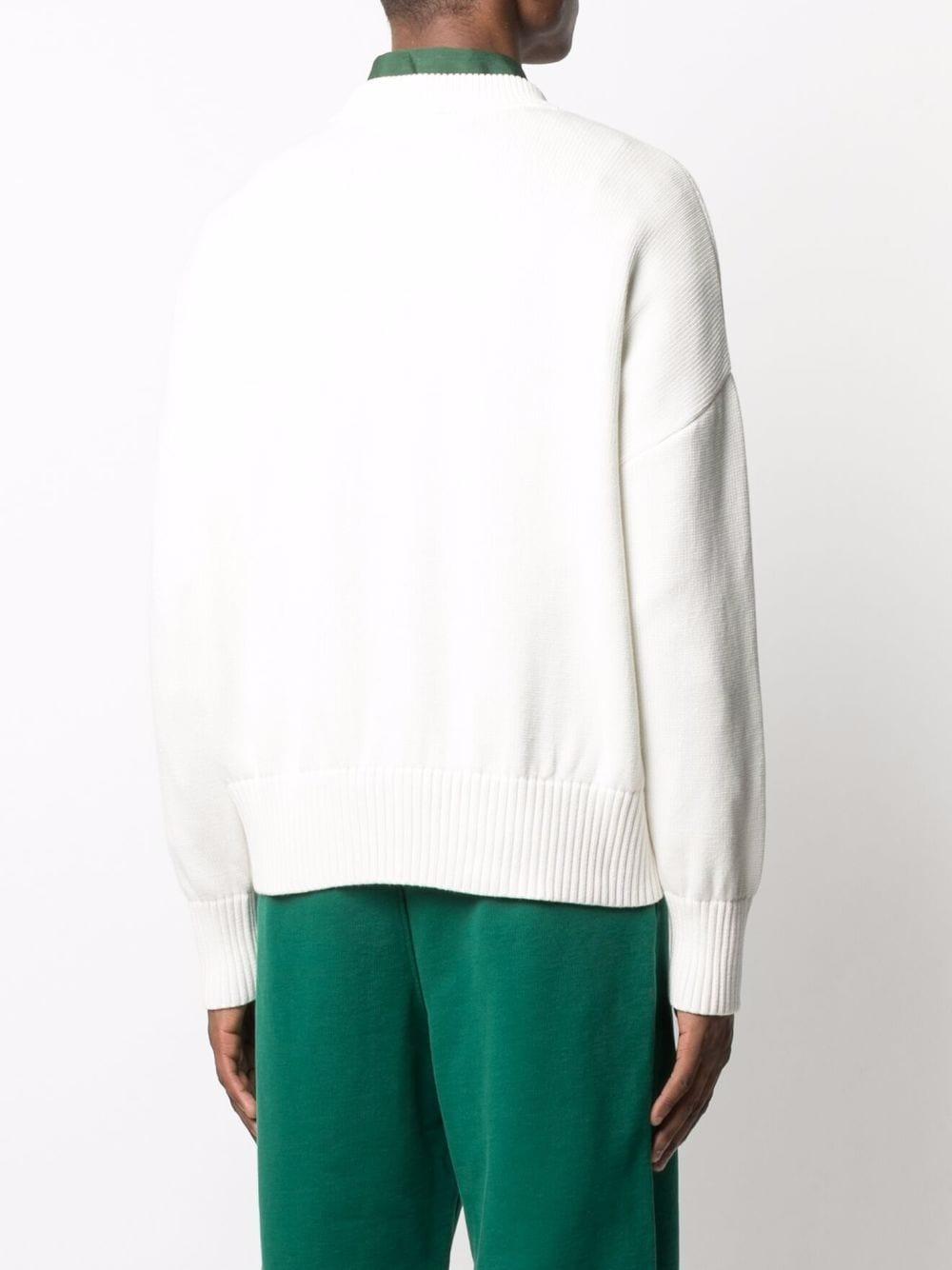 ami de coeur sweater man white in cotton and wool AMI - ALEXANDRE MATTIUSSI | Sweaters | A21HK009.016100