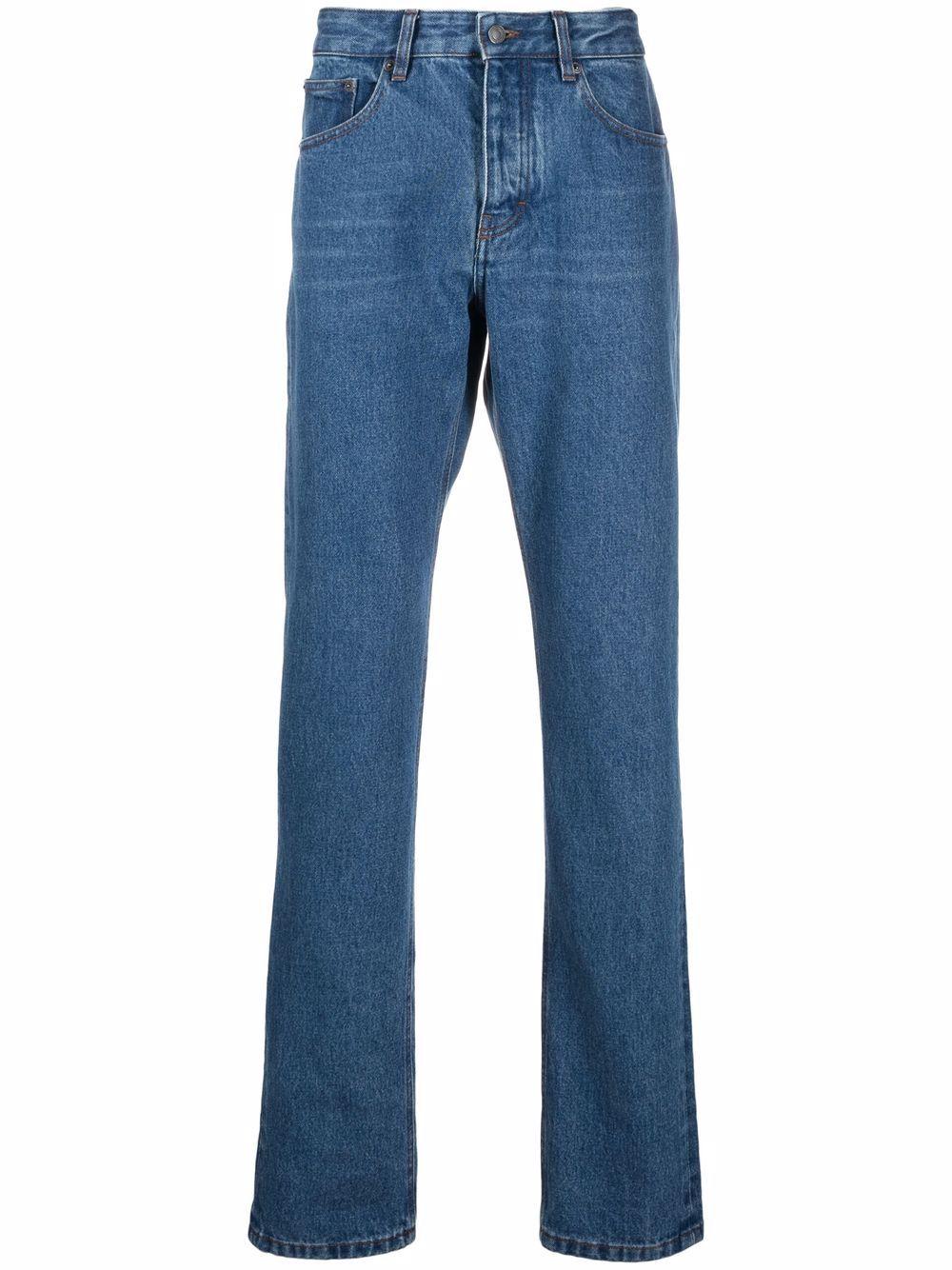jeans dritti uomo in cotone AMI - ALEXANDRE MATTIUSSI | Jeans | H21HD001.601480