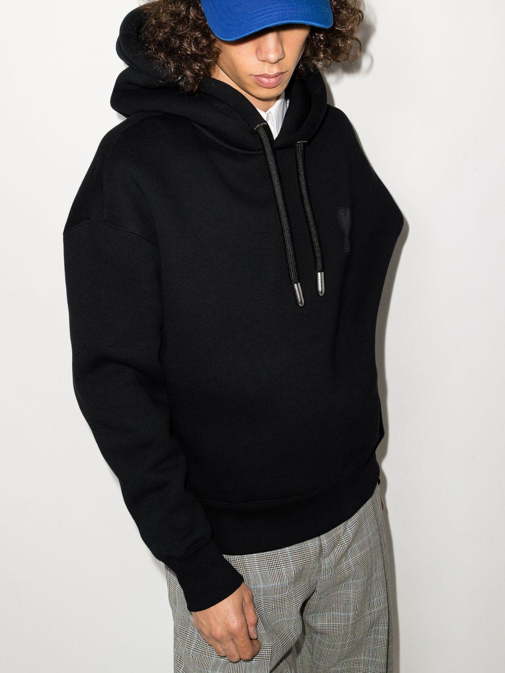 ami coeur tch sweatshirt man black in cotton AMI - ALEXANDRE MATTIUSSI | Sweatshirts | H21HJ067.749001