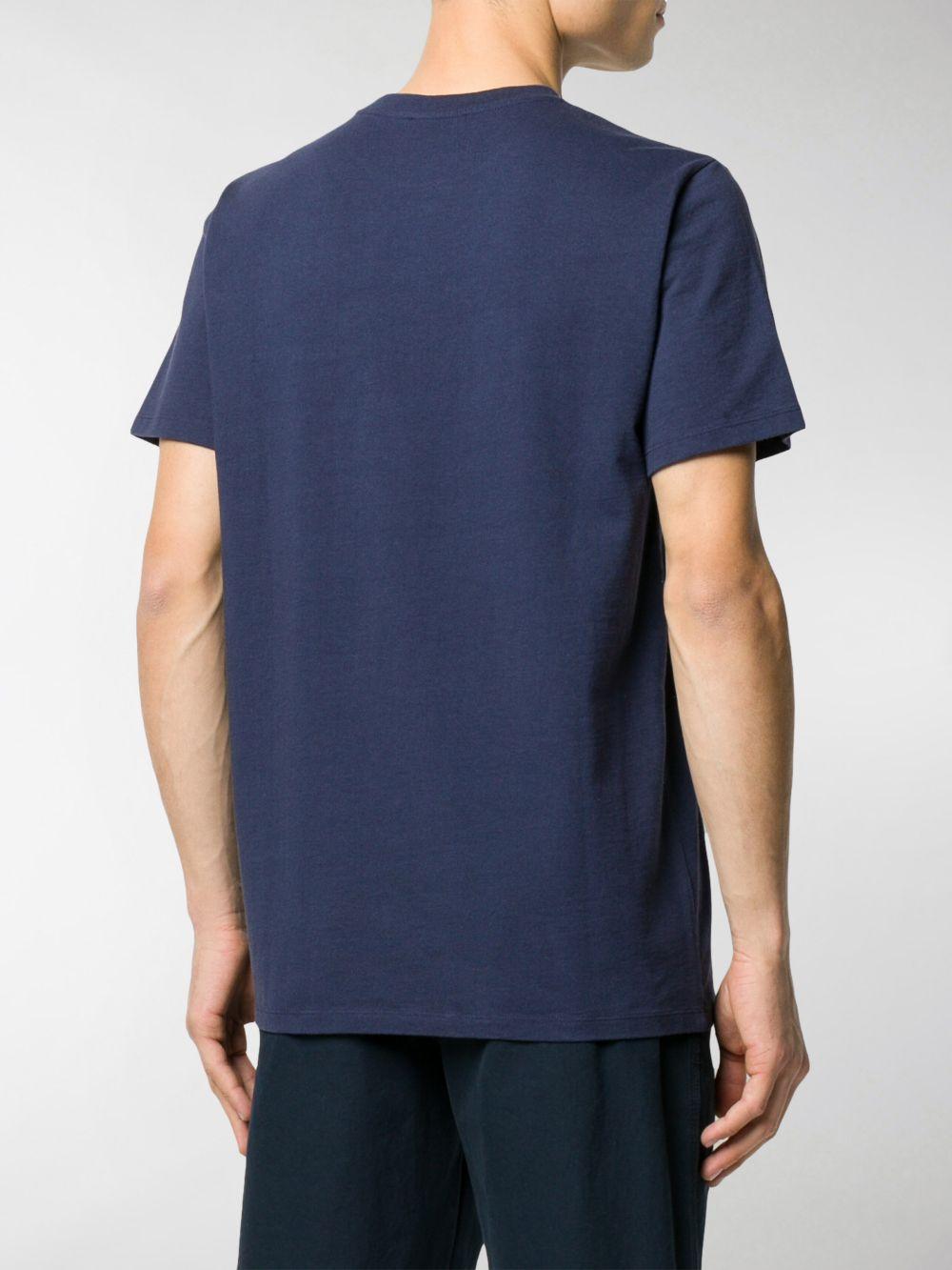 T-shirt con logo Blu in Cotone Uomo A.P.C.   T-shirt   COEAV-H26840IAK
