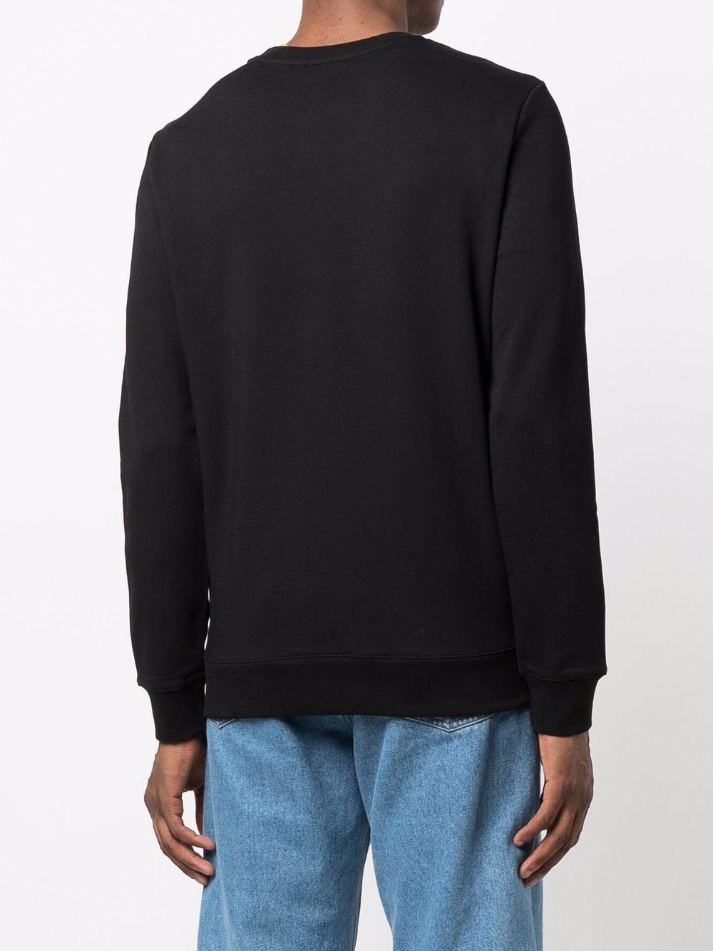 felpa con logo uomo nera in cotone A.P.C.   Maglieria   COECQ-H27378LZZ