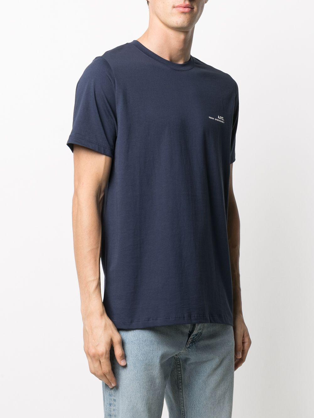 Logo t-shirt Man Blue Cotton A.P.C. | T-shirts | COEOP-H26904IAK