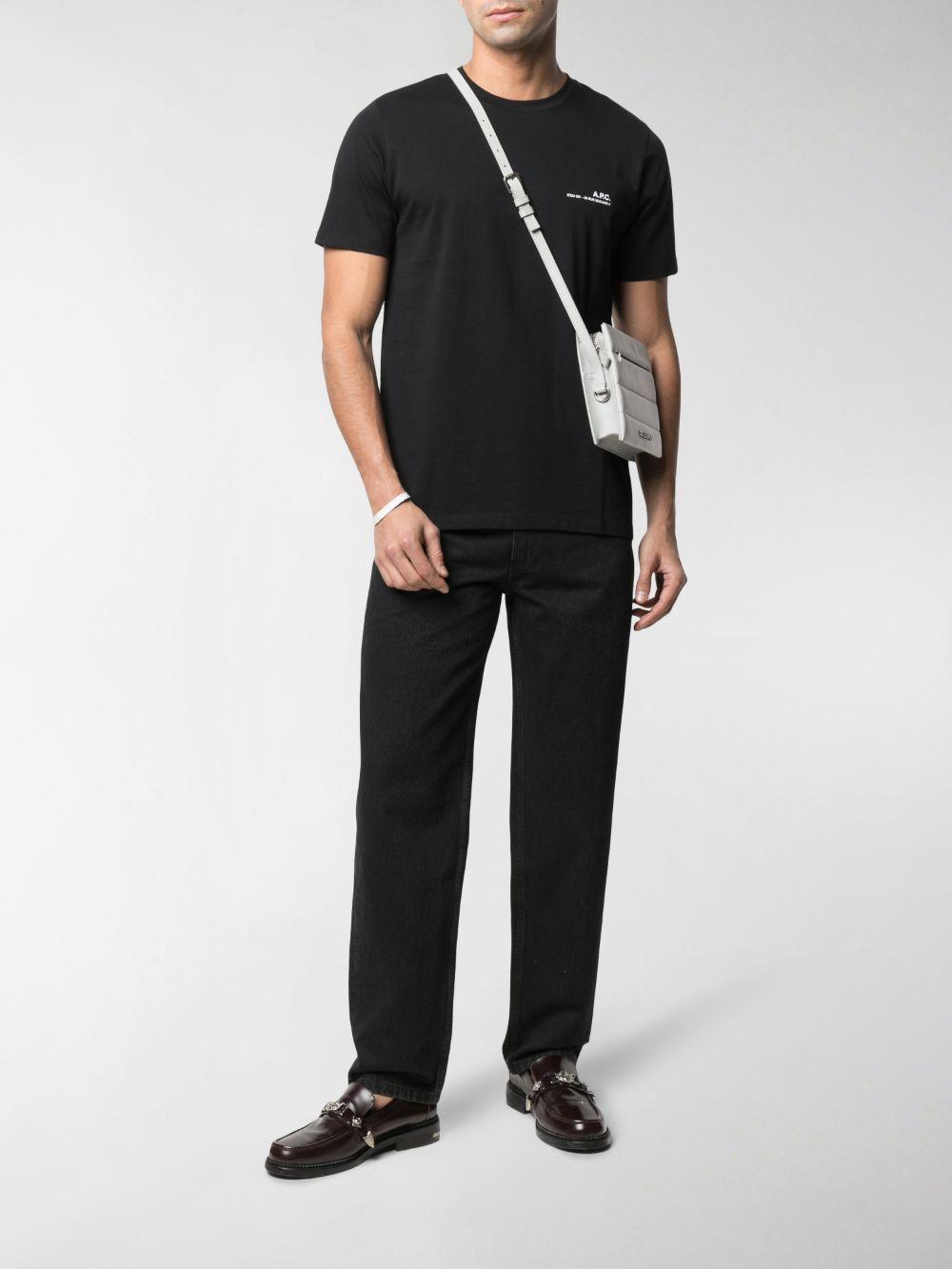 T-shirt con logo Uomo Nera in Cotone A.P.C.   T-shirt   COEOP-H26904LZZ