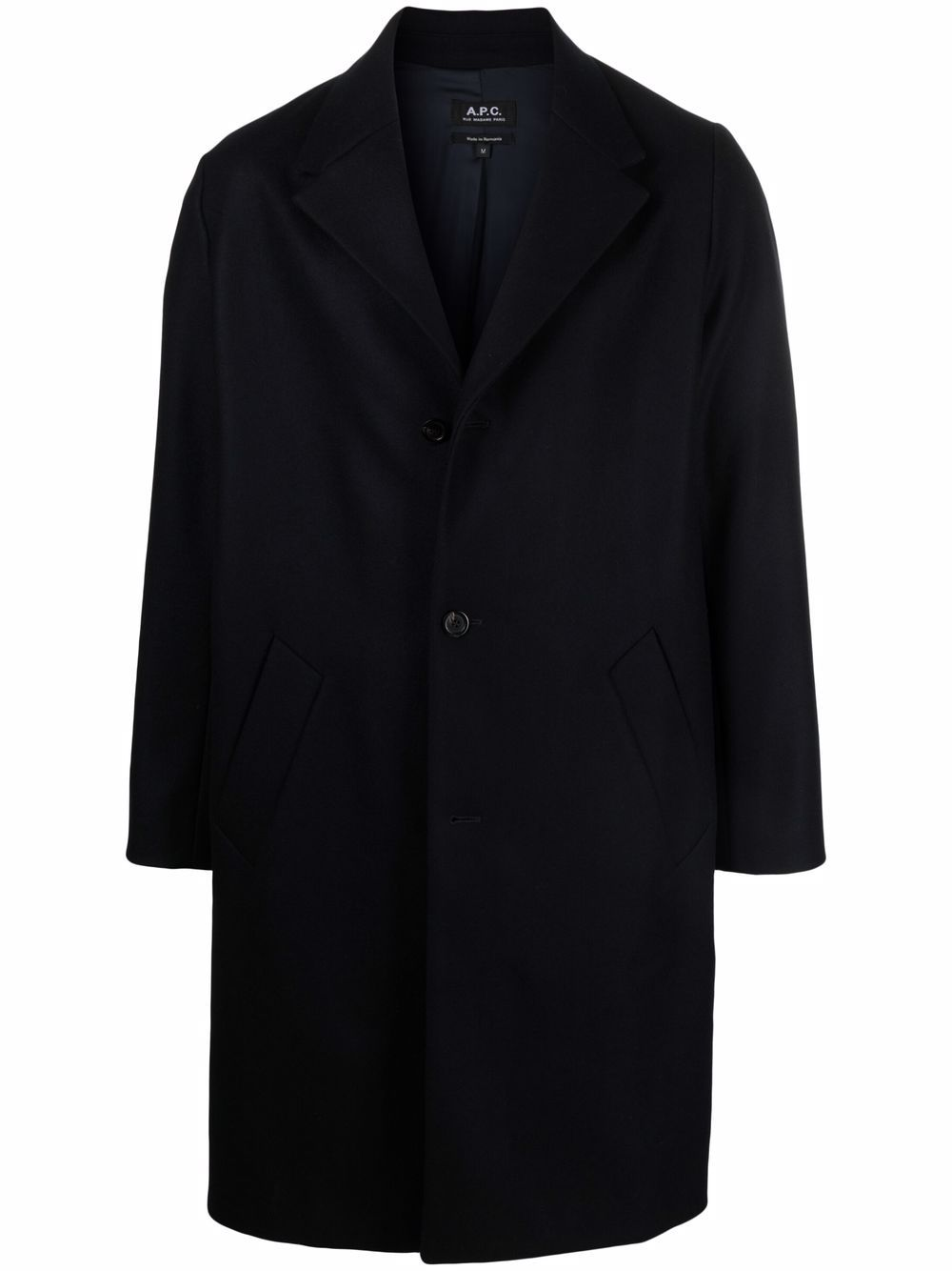 robin coat man dark blue A.P.C.   Coats   WOAJS-H01456IAH