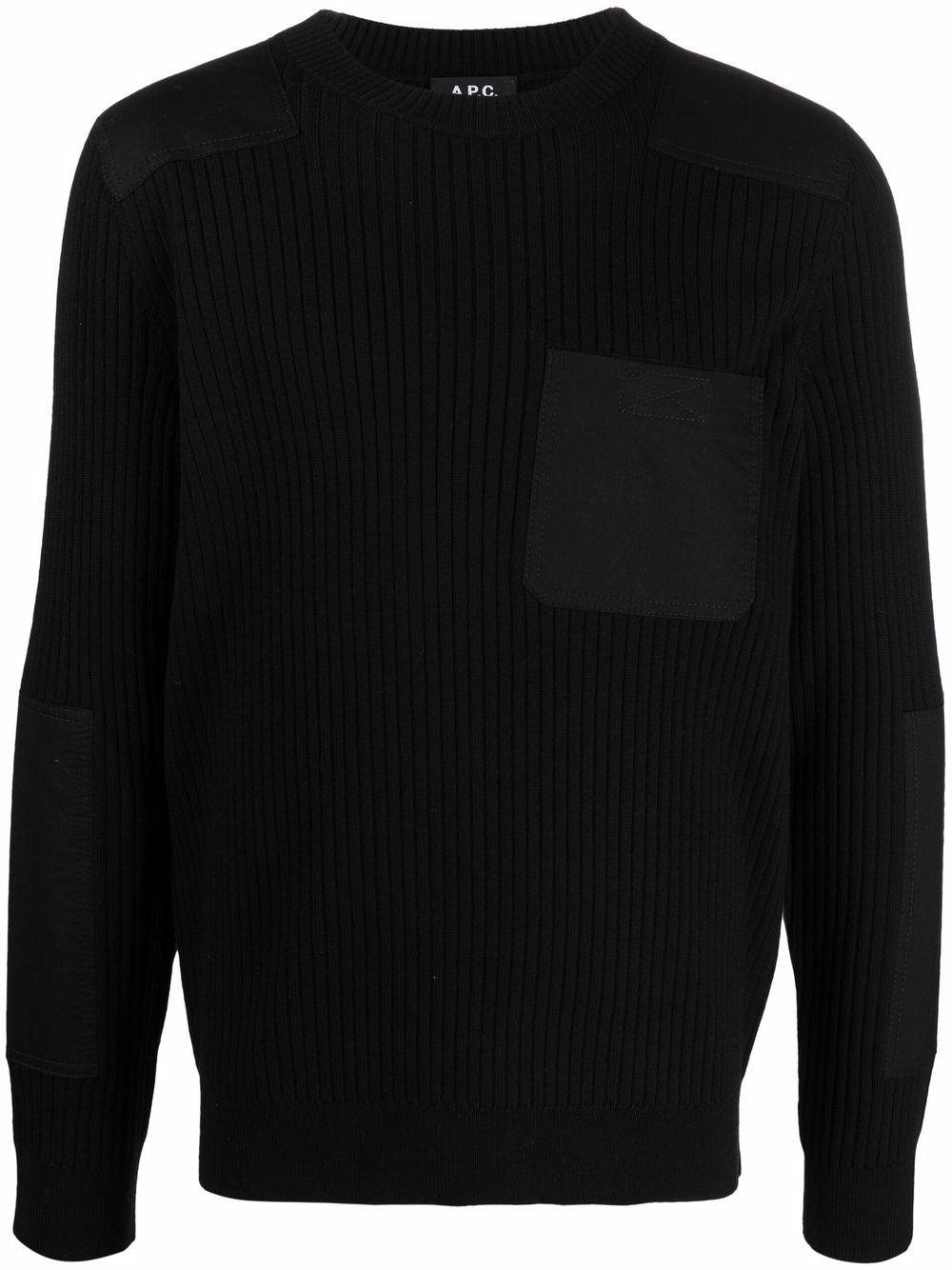 pull romain man black in wool A.P.C.   Sweaters   WVBAK-H23052LZZ