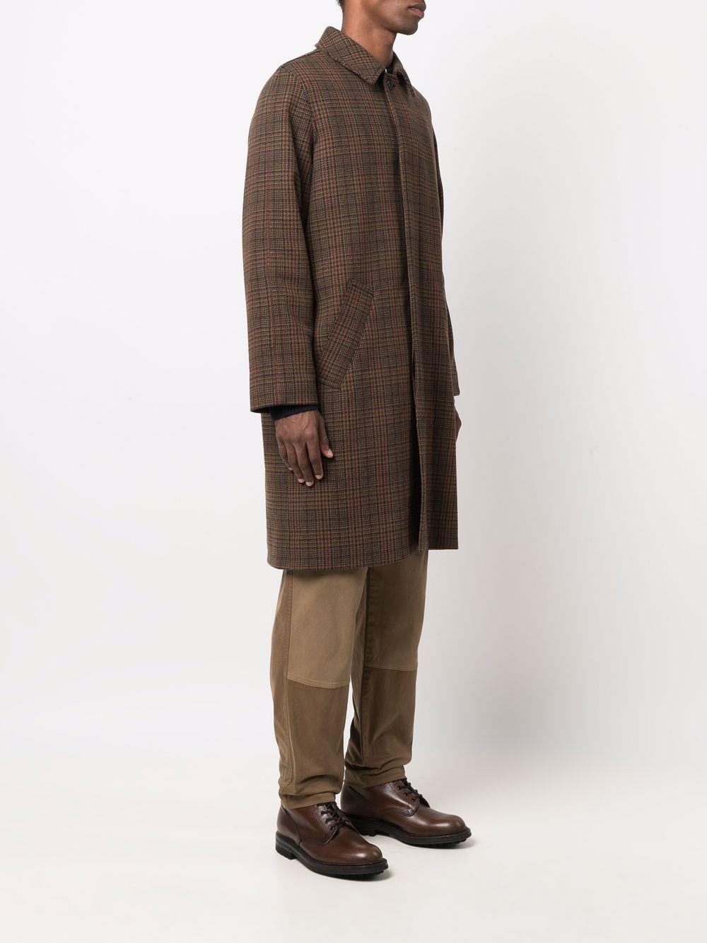 austin coat man brown in wool A.P.C.   Coats   WVBAY-H01460CAB