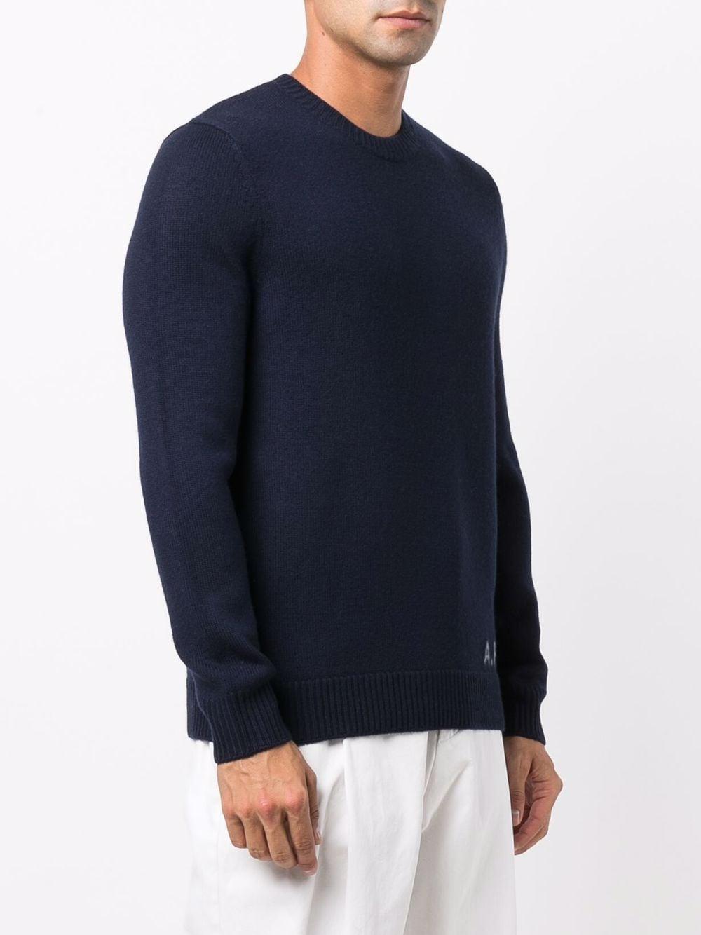 maglione con logo uomo blu in lana A.P.C.   Maglieria   WVBAZ-H23059IAK