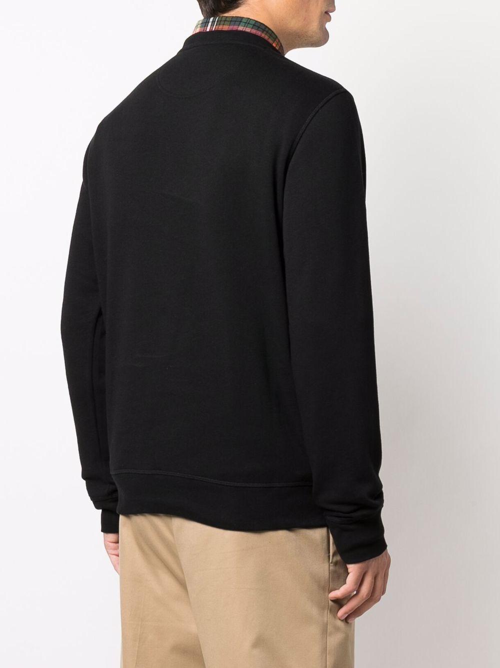 felpa con logo uomo nera in cotone BARBOUR   Felpe   M0L0156BK31