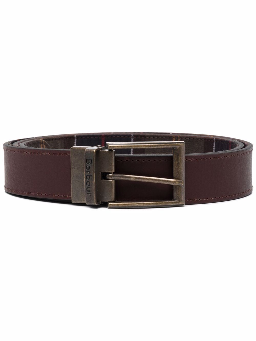reversible belt man brown in leather BARBOUR   Belts   MAC0364TN11