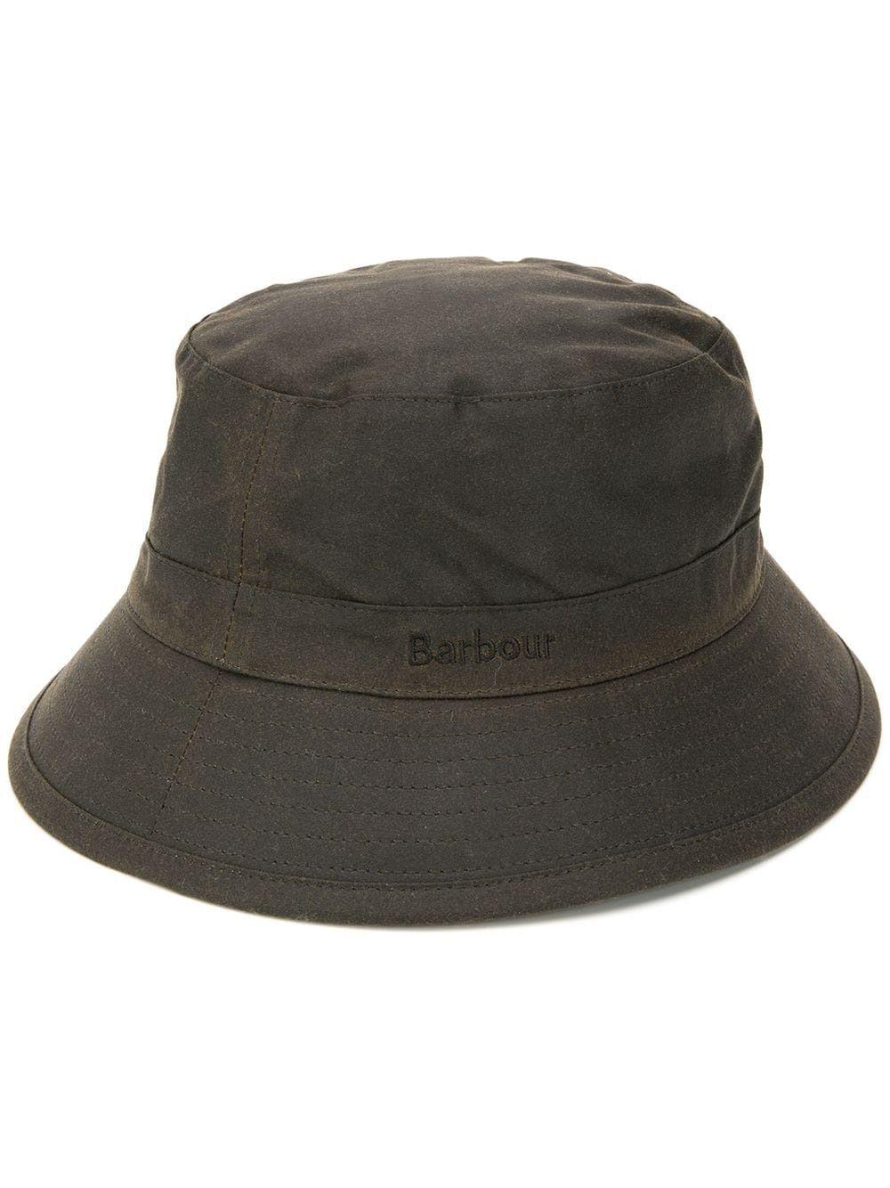 cappello bucket uomo olive in cotone BARBOUR | Cappelli | MHA0001OL71