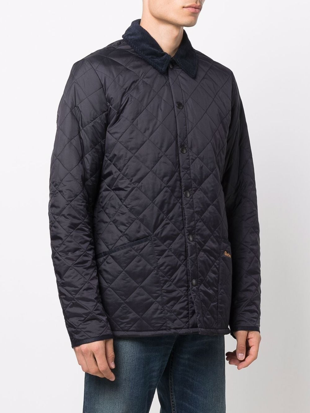 quilted jacket man blue navy BARBOUR | Jackets | MQU0240NY92