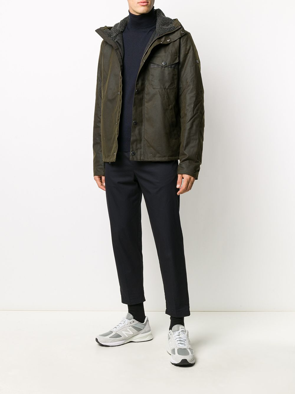 giacca impermeabile uomo verde BARBOUR | Giacche | MWX1372OL51