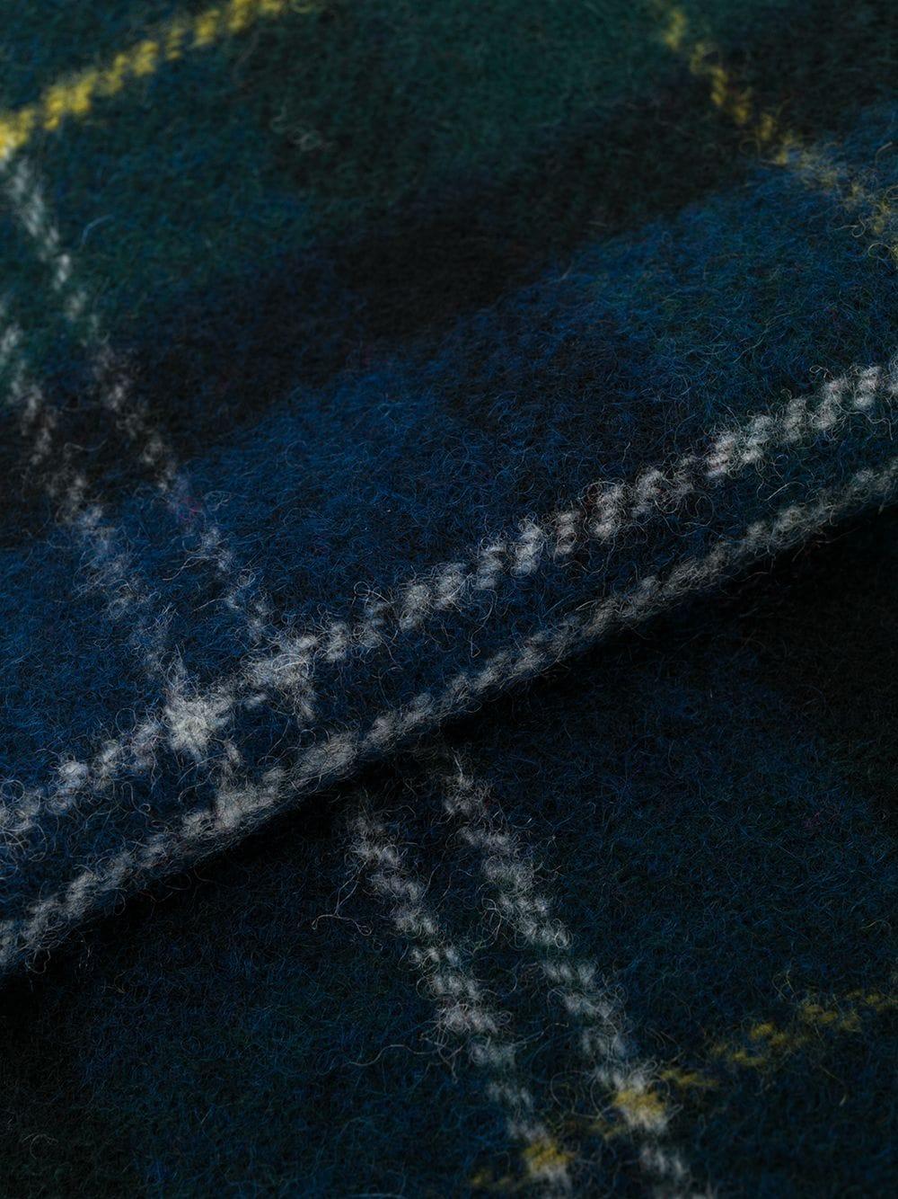 sciarpa a quadri unisex blu in lana BARBOUR | Sciarpe | USC0001GN91