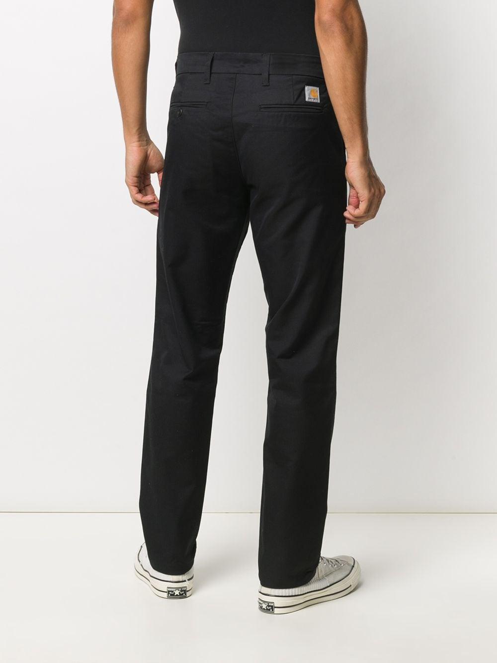 sid pants man black in cotton CARHARTT WIP | Trousers | I00336789.02