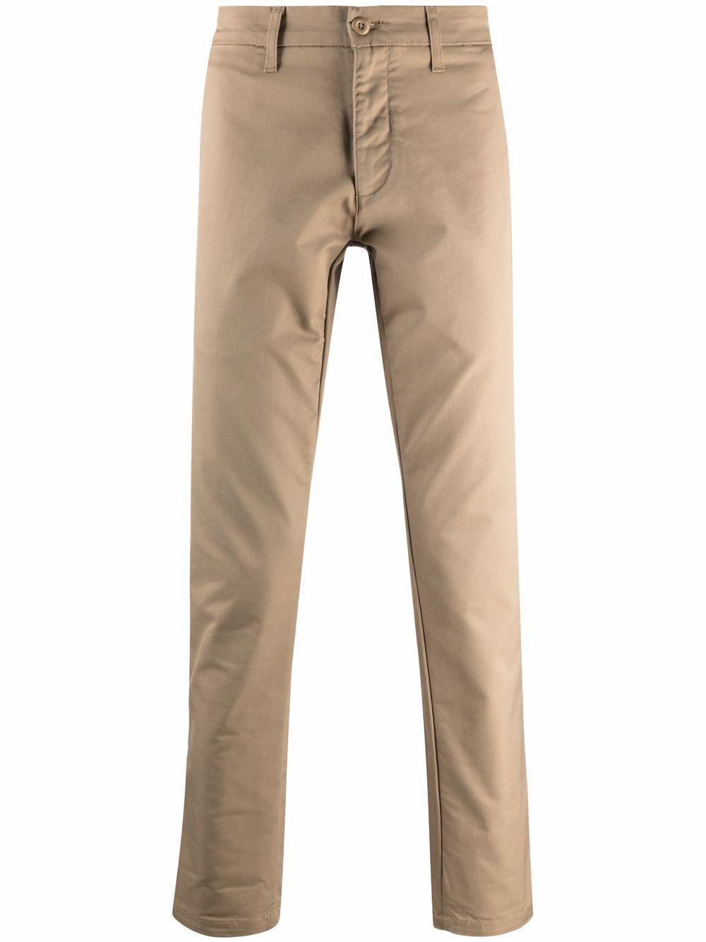 pantaloni sid uomo marroni in cotone CARHARTT WIP   Pantaloni   I0033678Y.02
