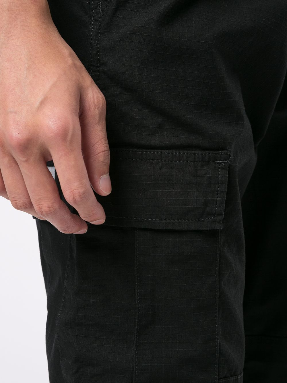 cargo pants uomo neri in cotone CARHARTT WIP   Trousers   I01587589.02