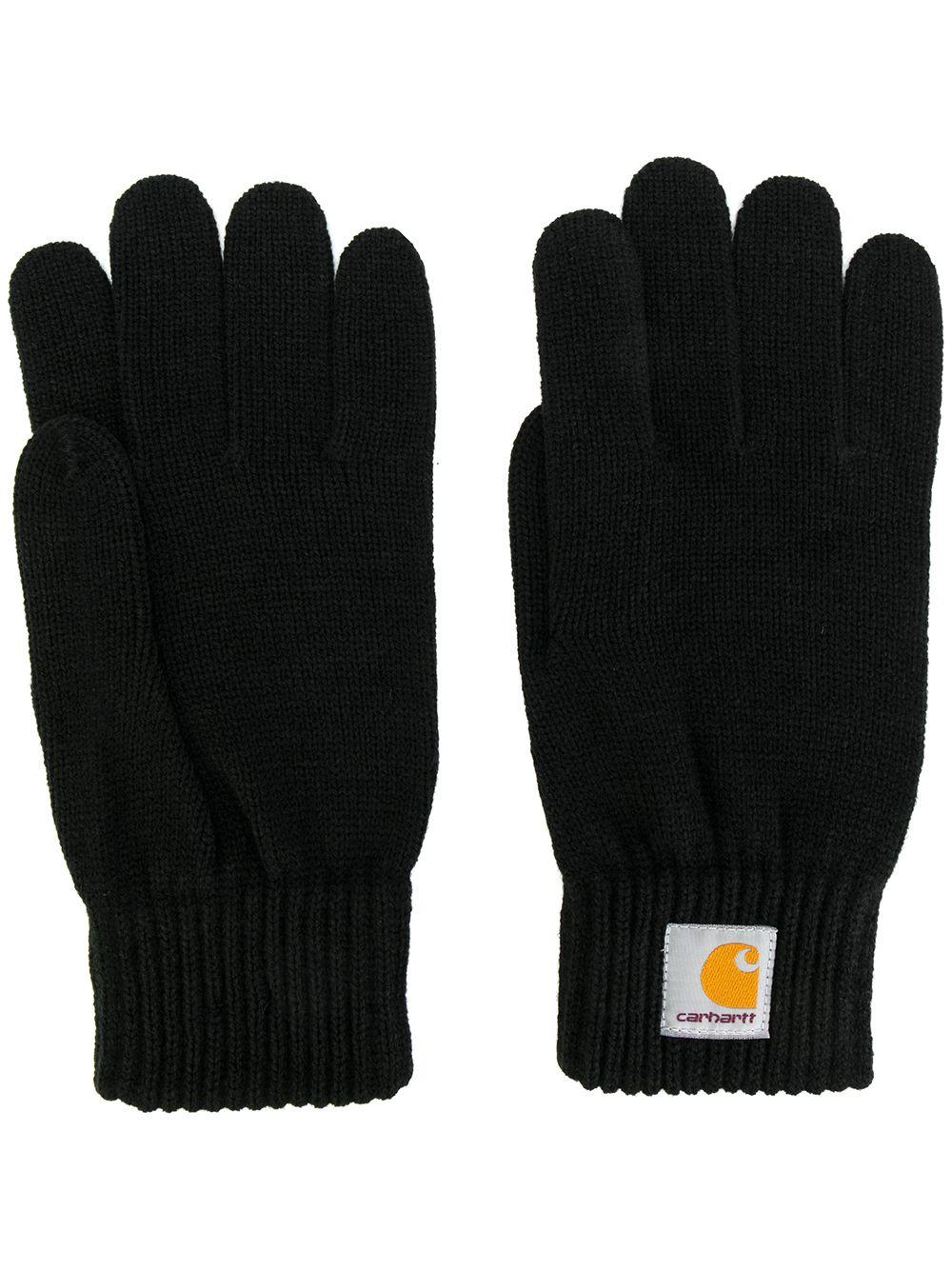 guanti con logo uomo neri CARHARTT WIP   Guanti   I02175689.XX
