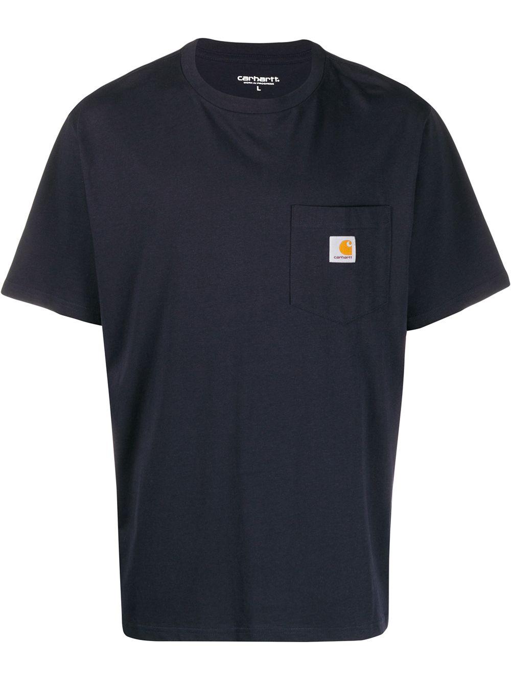 pocket t-shirt uomo blue in cotton CARHARTT WIP | T-shirts | I0220911C.XX