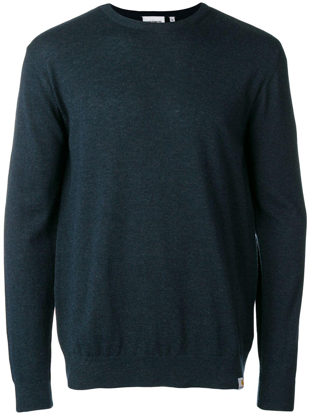 crewneck sweater man blue navy CARHARTT WIP | Sweaters | I0237761C.00