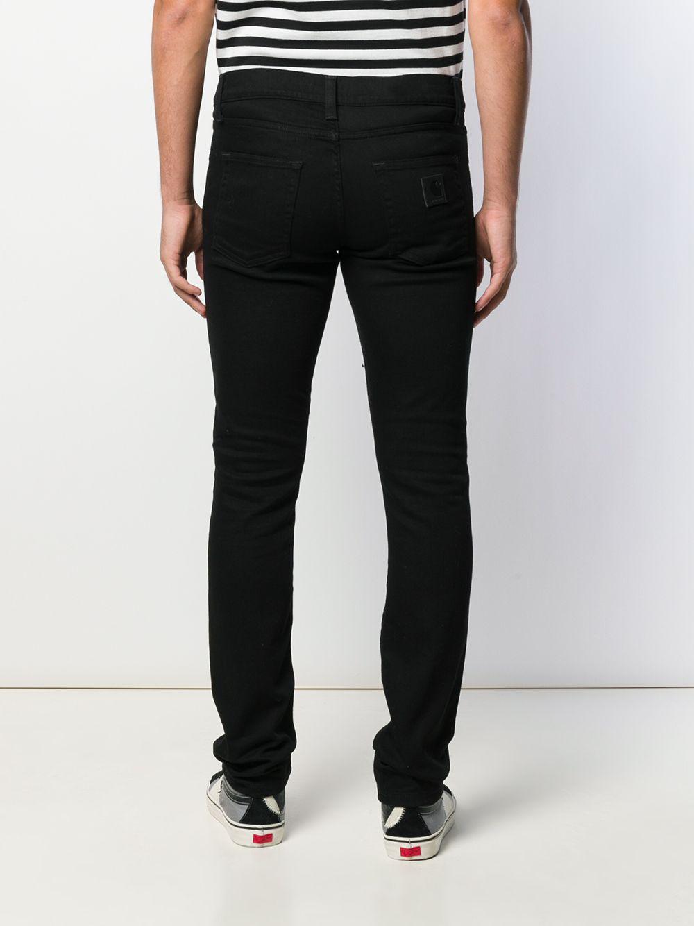 jeans rebel uomo neri in cotone CARHARTT WIP | Jeans | I02494789.02