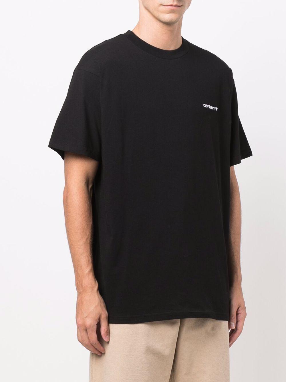 t-shirt con logo uomo nera in cotone CARHARTT WIP   T-shirt   I0257780D2.XX
