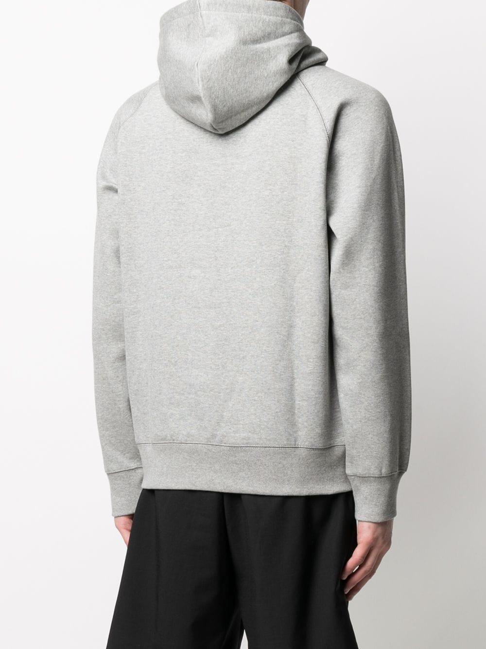 hooded chase sweat man gray in cotton CARHARTT WIP | Sweatshirts | I02638400M.XX