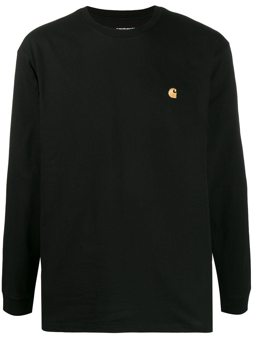 long sleeves t-shirt man black in cotton CARHARTT WIP | T-shirts | I02639200F.XX