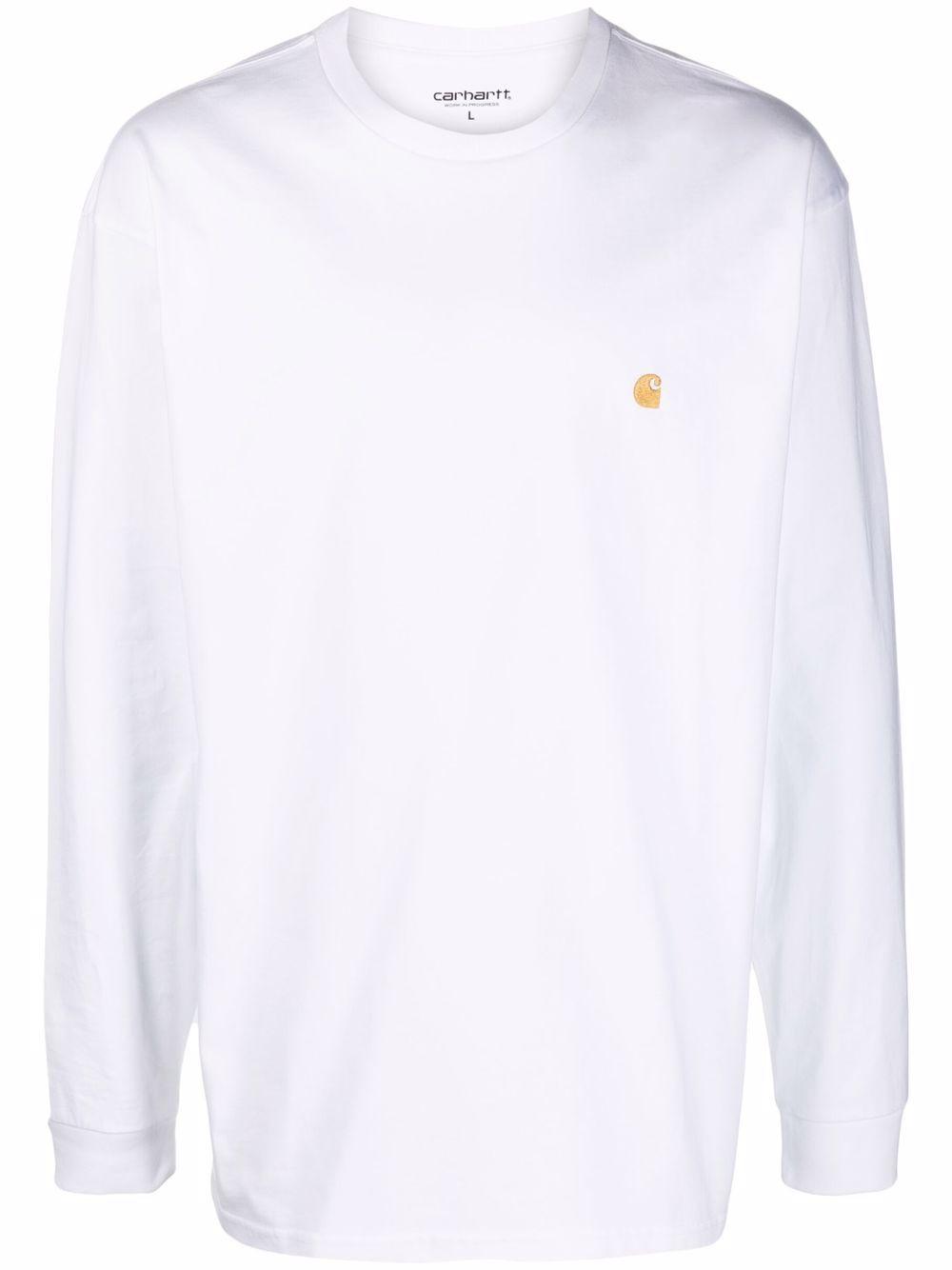 t-shirt manica lunga uomo bianca in cotone CARHARTT WIP   T-shirt   I02639200R.XX