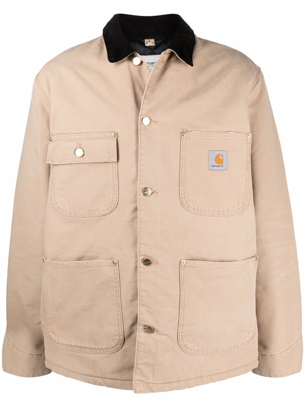 oh chore jacket man beige in cotton CARHARTT WIP   Jackets   I0273570IA.3K
