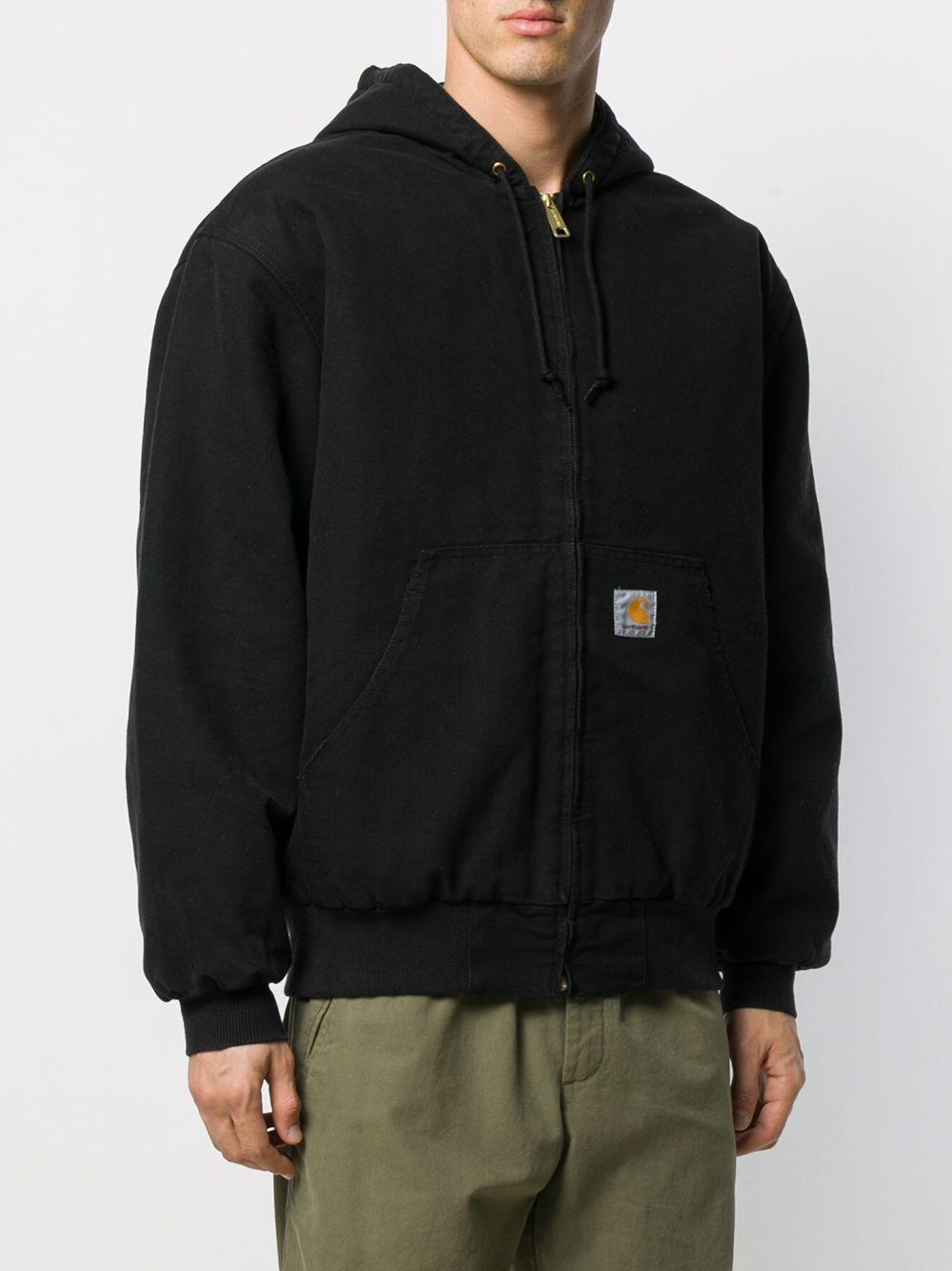 og active jacket man black in cotton CARHARTT WIP | Jackets | I02736089.3K