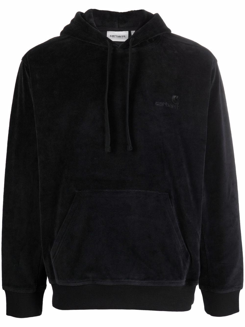 logo hoodie man black in cotton CARHARTT WIP | Sweatshirts | I02827689.XX