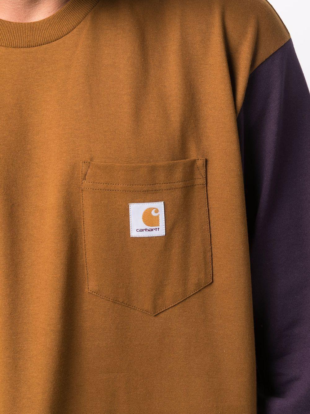 t-shirt a manica lunga uomo marrone in cotone CARHARTT WIP   T-shirt   I0295930IF.XX