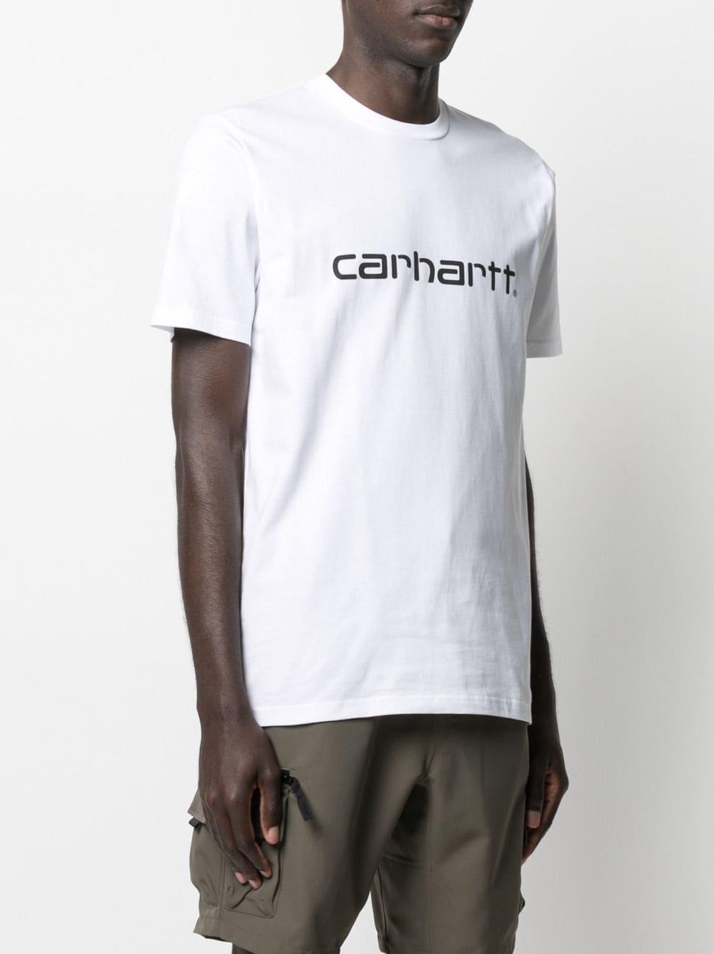 t-shirt con logo uomo nera in cotone CARHARTT WIP   T-shirt   I02991500A.XX