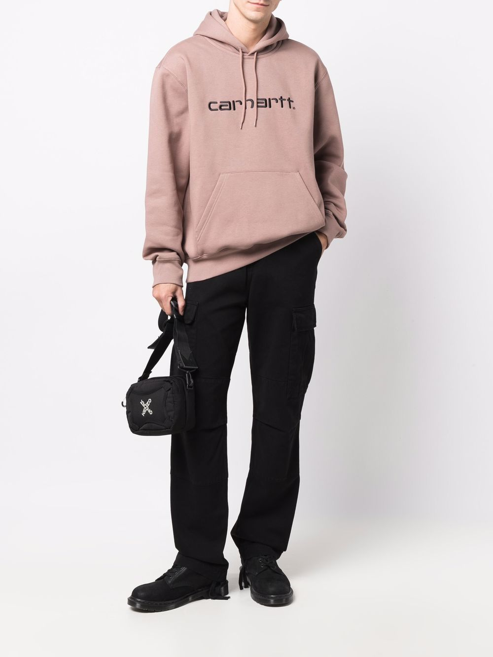 felpa con cappuccio uomo rosa antico in cotone CARHARTT WIP   Felpe   I0302300J7.XX