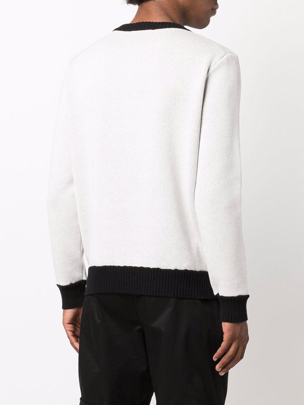 maglione grand prix uomo bianco in cotone CASABLANCA   Maglieria   MF21-KW-095OFF WHITE