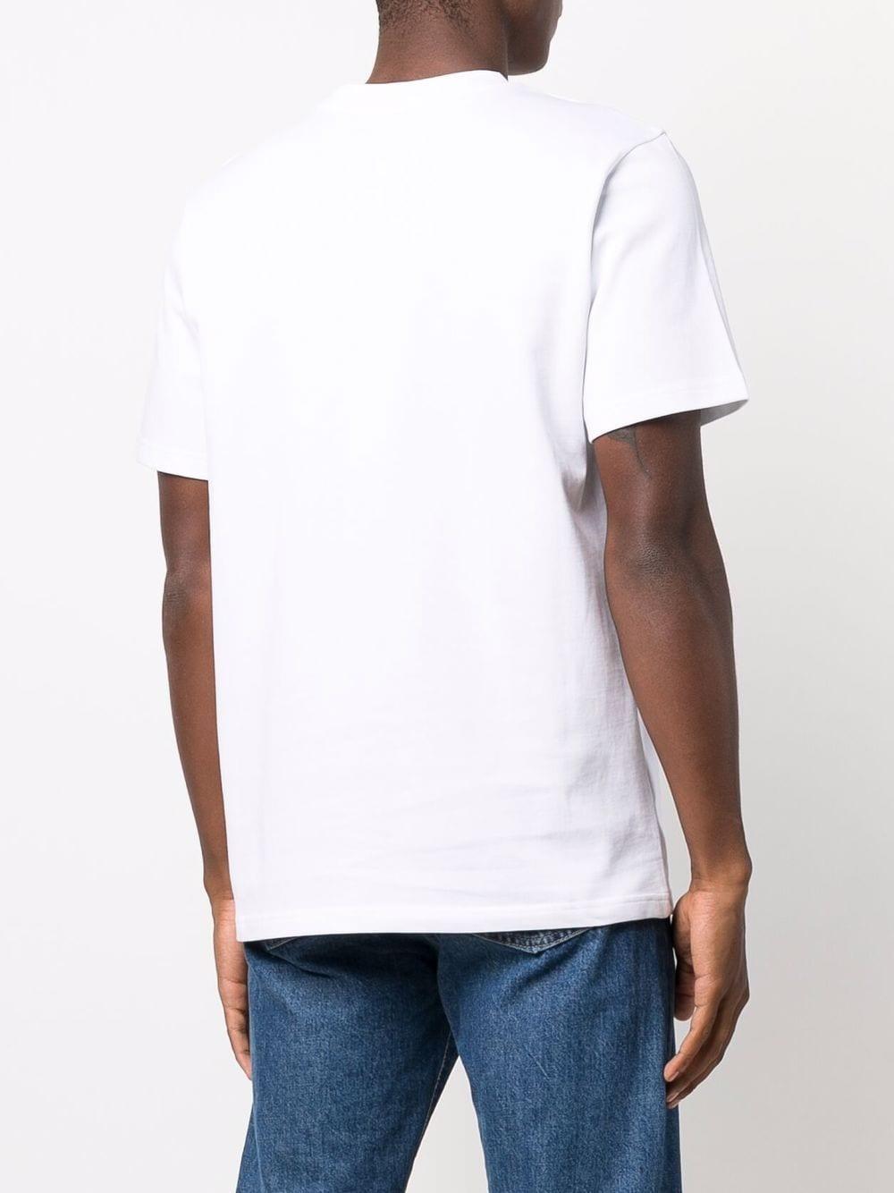 t-shirt white casa club uomo bianca in cotone organico CASABLANCA   T-shirt   MF21-TS-001WHITE CASA CLUB