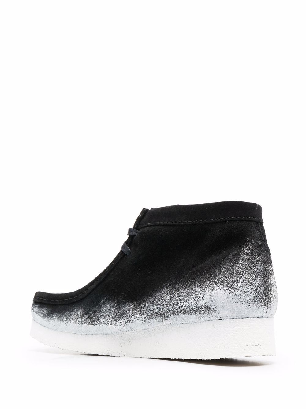 Wallabee Boot Black Leather Man CLARKS | Boots | 26163077BLACK