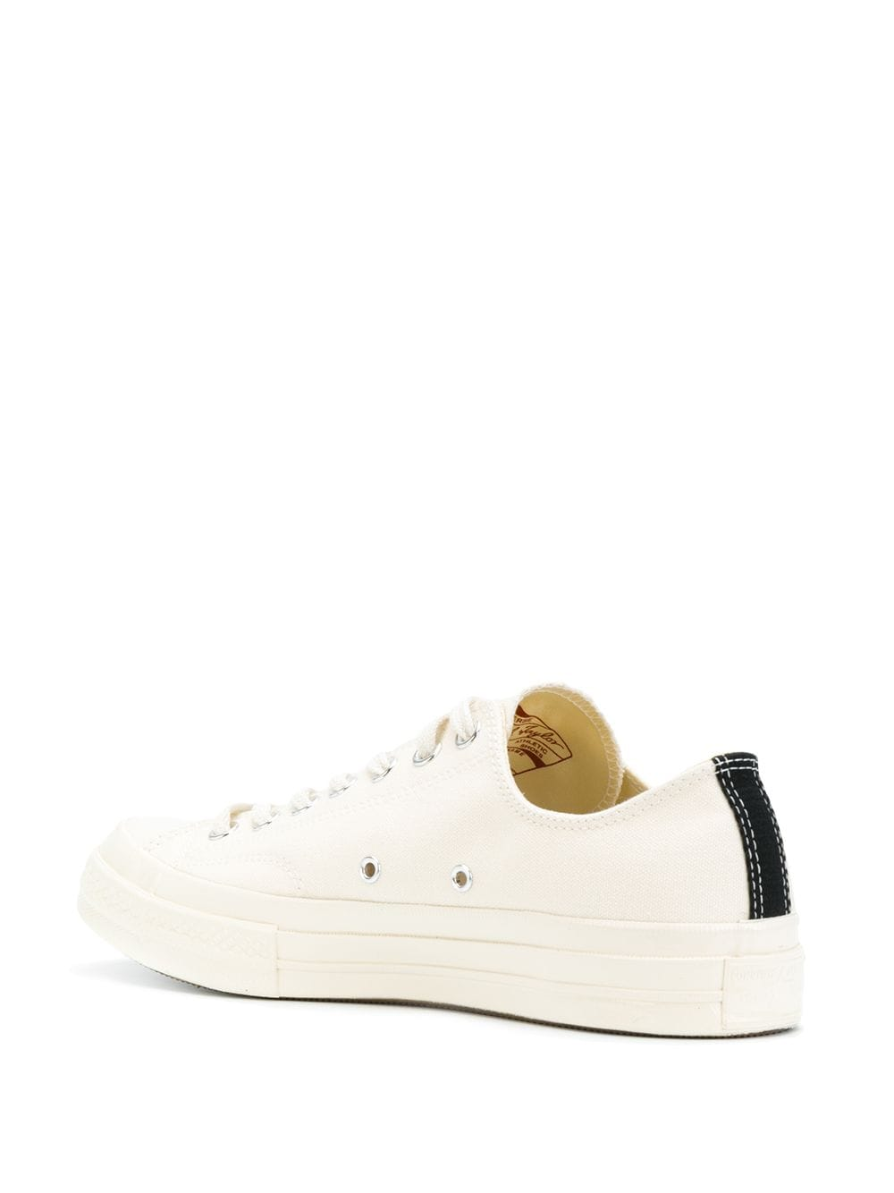 low play converse unisex white in canvas COMME DES GARÇONS PLAY X CONVERSE | Sneakers | P1K1112