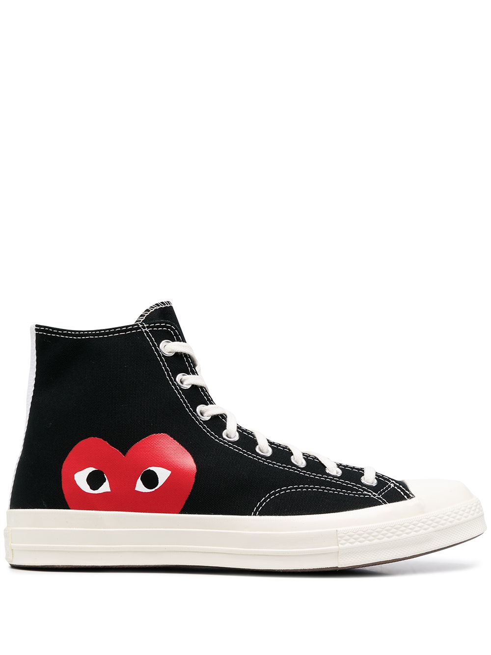 play sneakers man black COMME DES GARÇONS PLAY X CONVERSE   Sneakers   P1K1121