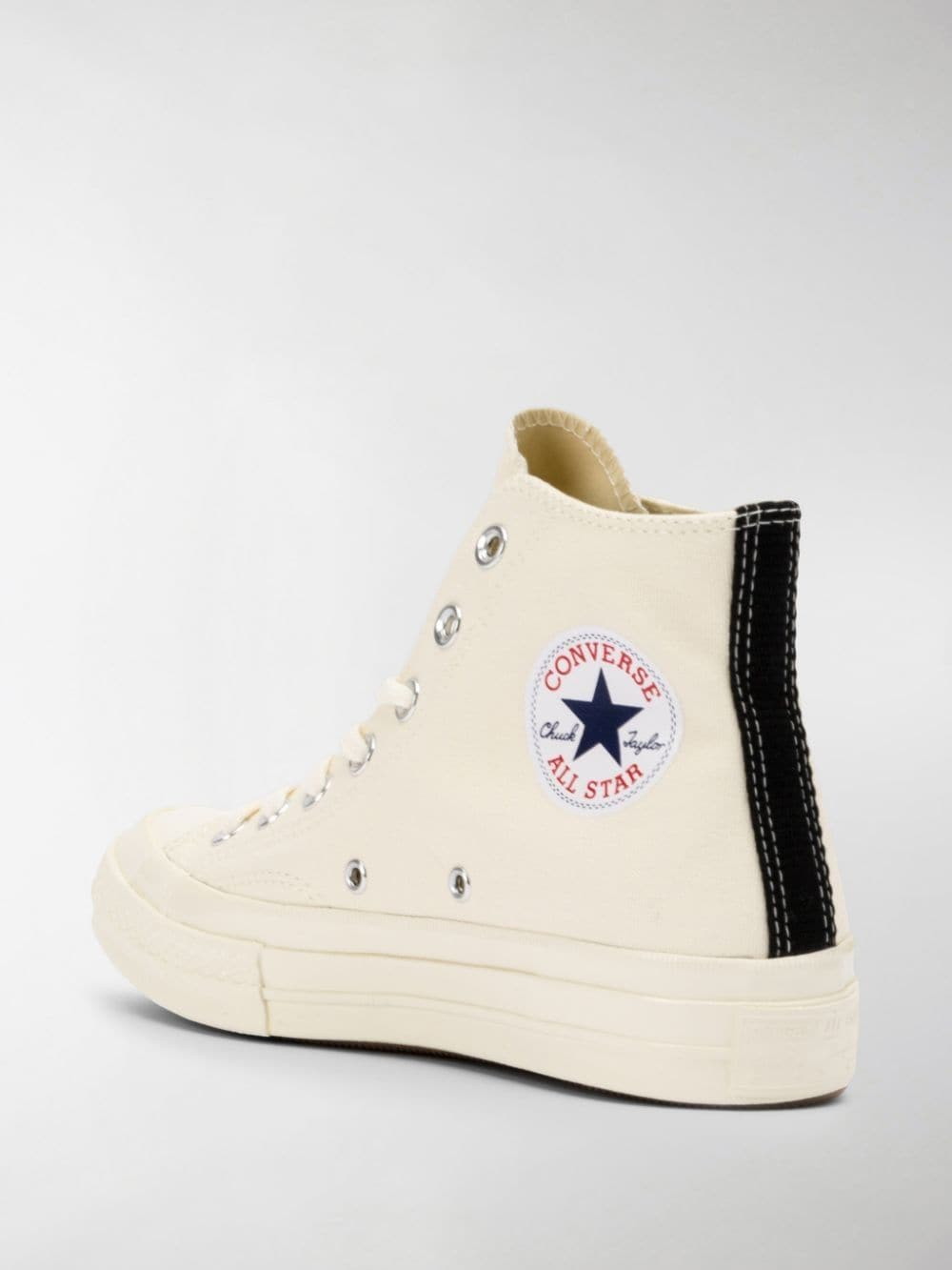 play sneakers unisex white in canvas COMME DES GARÇONS PLAY X CONVERSE | Sneakers | P1K1122