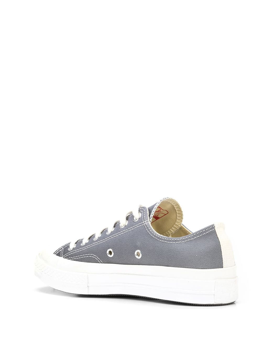 big heart low top sneakers unisex gray COMME DES GARÇONS PLAY X CONVERSE   Sneakers   P1K1211