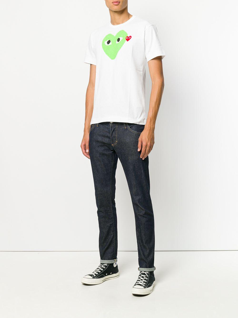 t-shirt play uomo bianca in cotone COMME DES GARÇONS PLAY   T-shirt   P1T1063