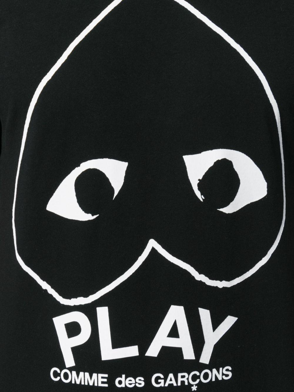 t-shirt play uomo nera in cotone COMME DES GARÇONS PLAY   T-shirt   P1T1141