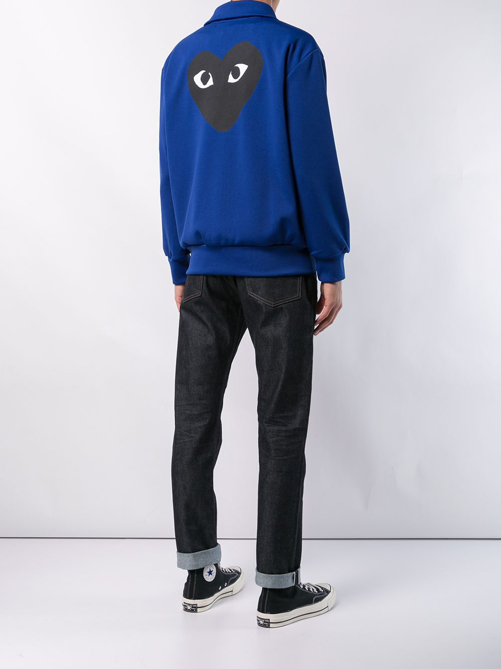 play sweatshirt man blue in cotton COMME DES GARÇONS PLAY   Sweatshirts   P1T2562
