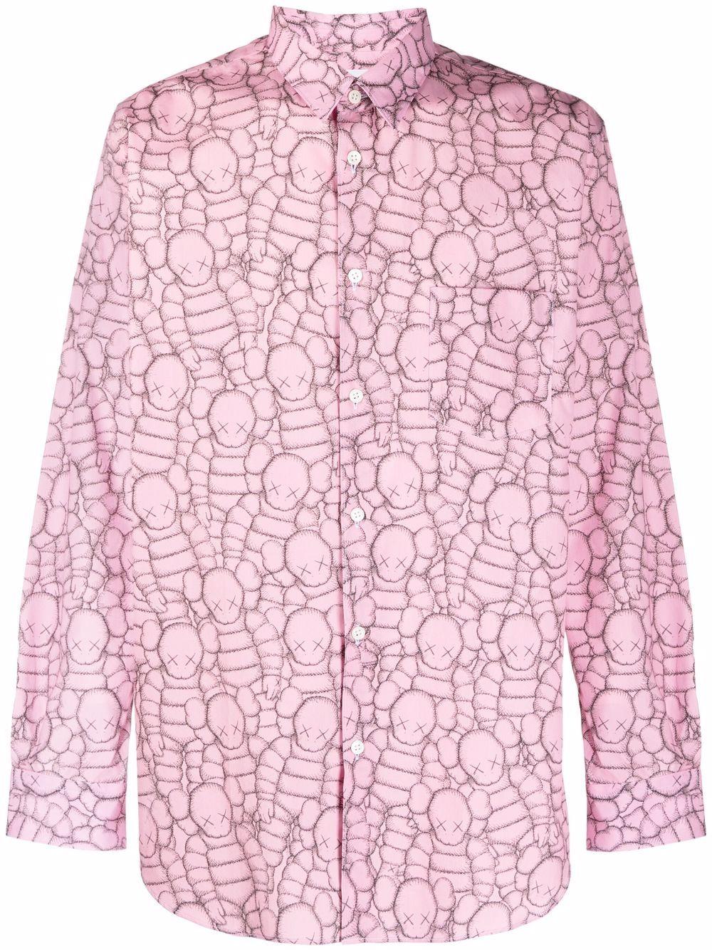 woven shirt man pink in cotton COMME DES GARÇONS SHIRT | Shirts | FH-B023-W211