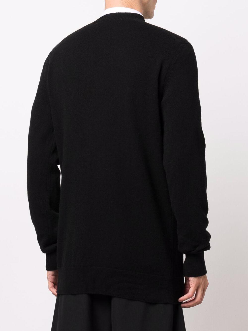 maglione a girocollo uomo nero in lana COMME DES GARÇONS SHIRT   Maglieria   FH-N003-W211