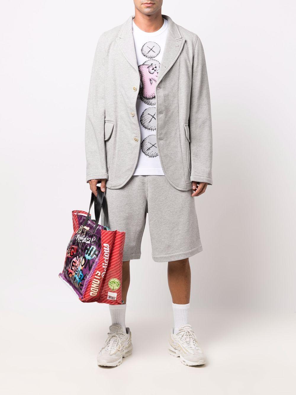 sport shorts man gray in cotton COMME DES GARÇONS SHIRT | Shorts | FH-P013-W211