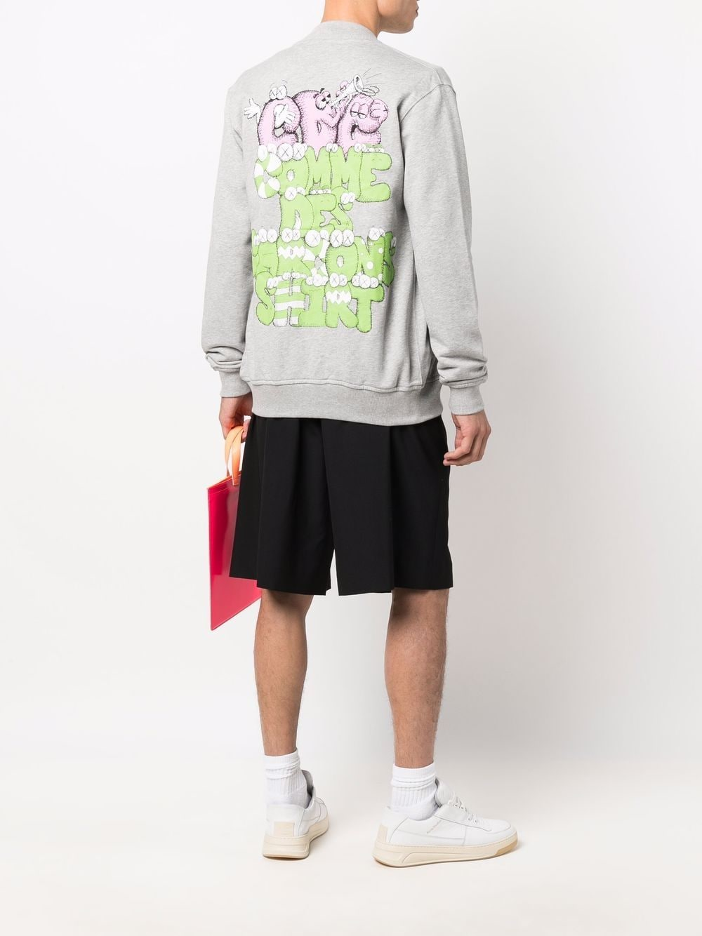 sweatshirt with print man gray in cotton COMME DES GARÇONS SHIRT | Sweatshirts | FH-T002-W211