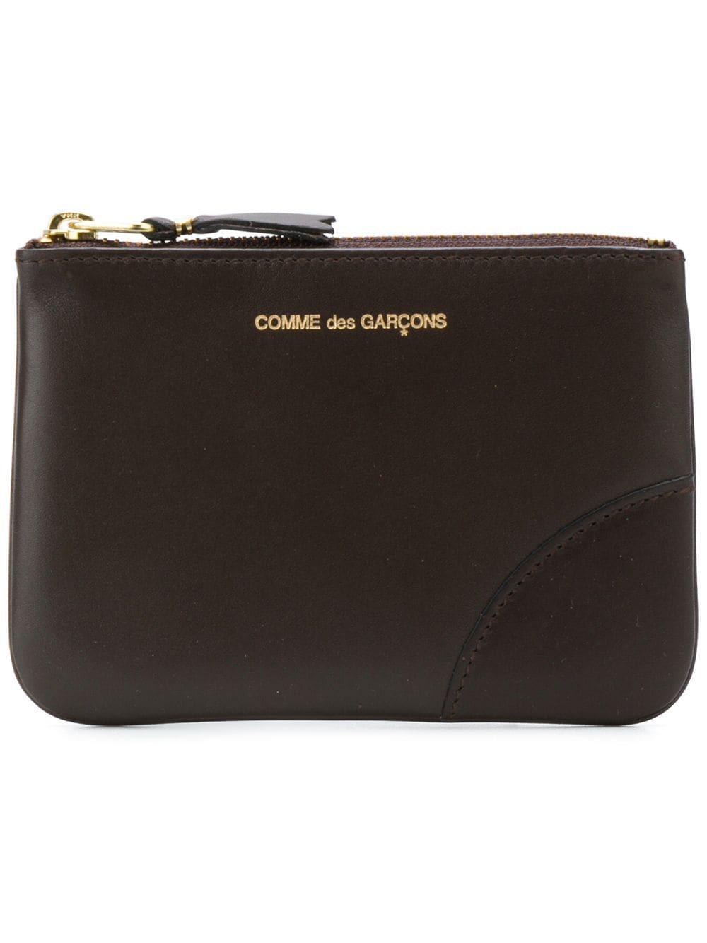 portafoglio con logo unisex marrone in pelle COMME DES GARÇONS WALLET | Portafogli | SA8100801